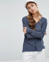 Daisy Street Long Sleeve Top In Stripe