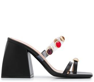 Nodaleto Bulla Salem 85mm jewelled sandals