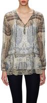 Calypso St. Barth Tuloni Silk Printed Peasant Top