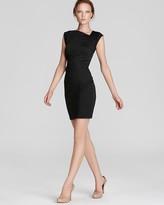 Aqua Dress - Gathered Side Ponte