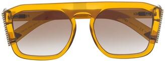 Fendi Eyewear Embellished Square-Frame Sunglasses