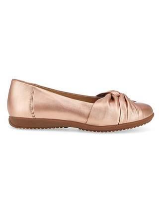 Jd Williams Comfort Leather Ballerinas EEE Fit