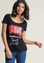 Out of Print Novel Tee Graphic T-Shirt in Hercule in M - Short Sleeve Regular Waist by ModCloth