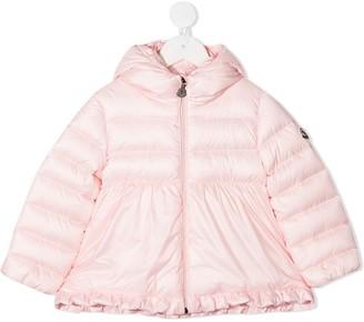 Moncler Enfant quilted-down A-line coat