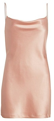 Alice + Olivia Harmony Draped Slip Mini Dress