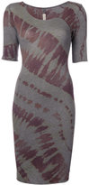 Raquel Allegra fitted tie-dye dress - women - Cotton/Polyester - 0