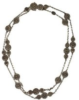 John Hardy Floral Motif Classic Chain Necklace