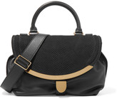 See by Chloe Small textured-leather and snake-effect nubuck shoulder bag