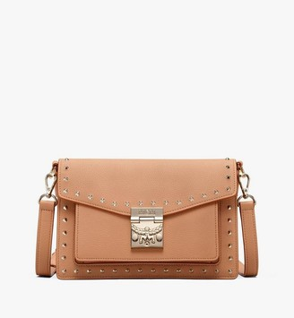 MCM Patricia Crossbody in Studded Park Avenue Leather