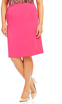 Kasper Plus Stretch Crepe A-Line Skirt