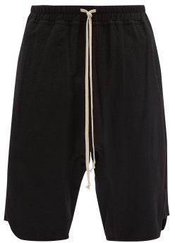 Rick Owens Drawcord-waist Cotton-jersey Basketball Shorts - Black