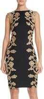 Tadashi Shoji Floral Lace Detail Dress