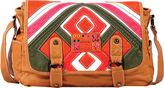 Nicole Lee Women's Esther Distressed Patchwork Messenger Bag