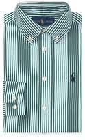 Ralph Lauren Striped Cotton Dress Shirt Green/White Multi 2T
