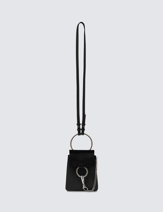9a564dea Faye Mini Suede-panel Leather Cross-body Bag