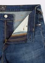 Paul Smith Men's Slim-Standard Antique-Wash 11.8oz 'Super Soft Cross-Hatch' Jeans