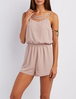 Charlotte Russe Strappy Caged Romper