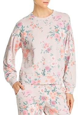 Sundry Floral Printed Sweatshirt