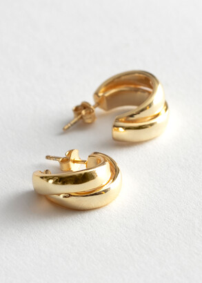 And other stories Chunky Layered Open Hoop Earrings