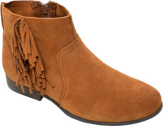 Minnetonka Side Fringe Suede Ankle Boot