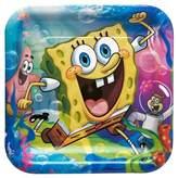 SpongeBob Squarepants Square Pants Square Disposable Plates - 8ct