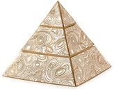 "Jonathan Adler Malachite"" Pyramid Stacking Box"