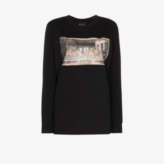 Swarovski Browns X Sara Shakeel last supper crystal long sleeve cotton T-shirt