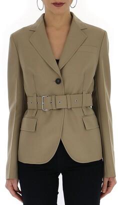 Prada Belted Single Breasted Blazer