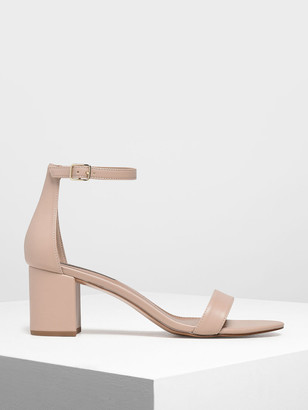 Charles & Keith Block Heel Ankle Strap Sandals