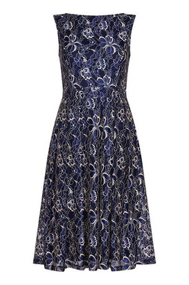 Yumi Floral Lace Skater Dress