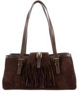 Burberry Suede Fringe Shoulder Bag
