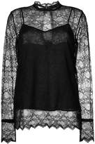 Theory long sleeved lace blouse