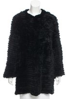 Adrienne Landau Knitted Fur Jacket