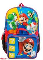 Nickelodeon Super Mario Backpack & Lunch Bag Set