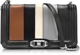 Rebecca Minkoff Black and Almond Leather Small Love Crossbody Bag