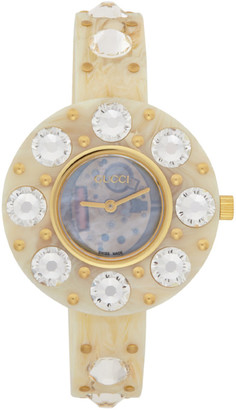 Gucci Off-White Vintage Web Resin Watch