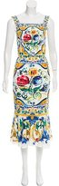 Dolce & Gabbana Maiolica Silk Dress w/ Tags