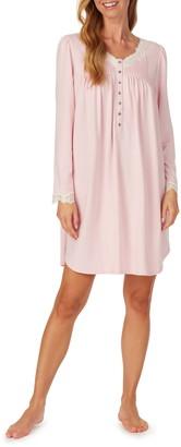 Eileen West Lace Trim Short Jersey Nightgown