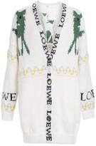 Loewe Deer Oversized Mohair-Blend Cardigan