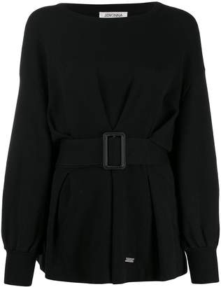 Jovonna London Tino relaxed-fit belted jumper