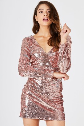 Little Mistress Girls on Film Guild Gold Sequin Bodycon Dress