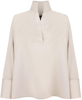Monica Nera Grace Beige Cotton Shirt