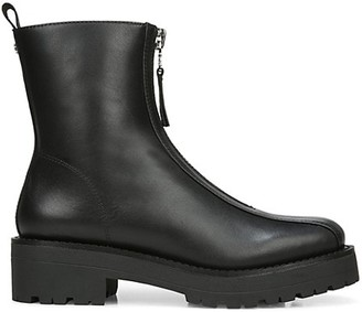 Sam Edelman Jacquie Lug-Sole Leather Combat Boots
