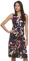 Dana Buchman Petite Tie-Front Crepe Dress