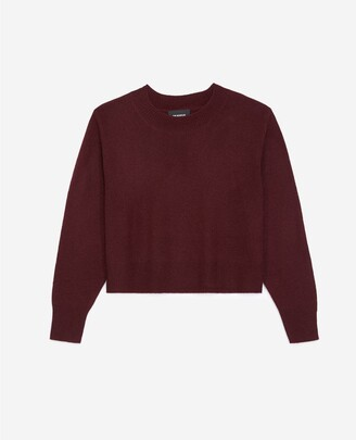 The Kooples Burgundy cashmere sweater with crew neck