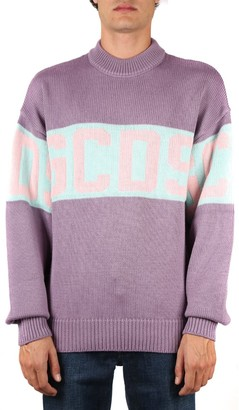 GCDS Wool Blend Sweater With Front Logo