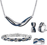 JCPenney FINE JEWELRY 1/5 CT. T.W. White & Color-Enhanced Black & Blue Diamond 4-pc. Jewelry Set