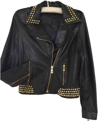Faith Connexion Black Leather Leather Jacket for Women