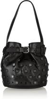Karl Lagerfeld Studs mini embellished leather bucket bag