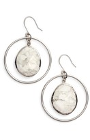 Nordstrom Women's Stone Frontal Hoop Earrings
